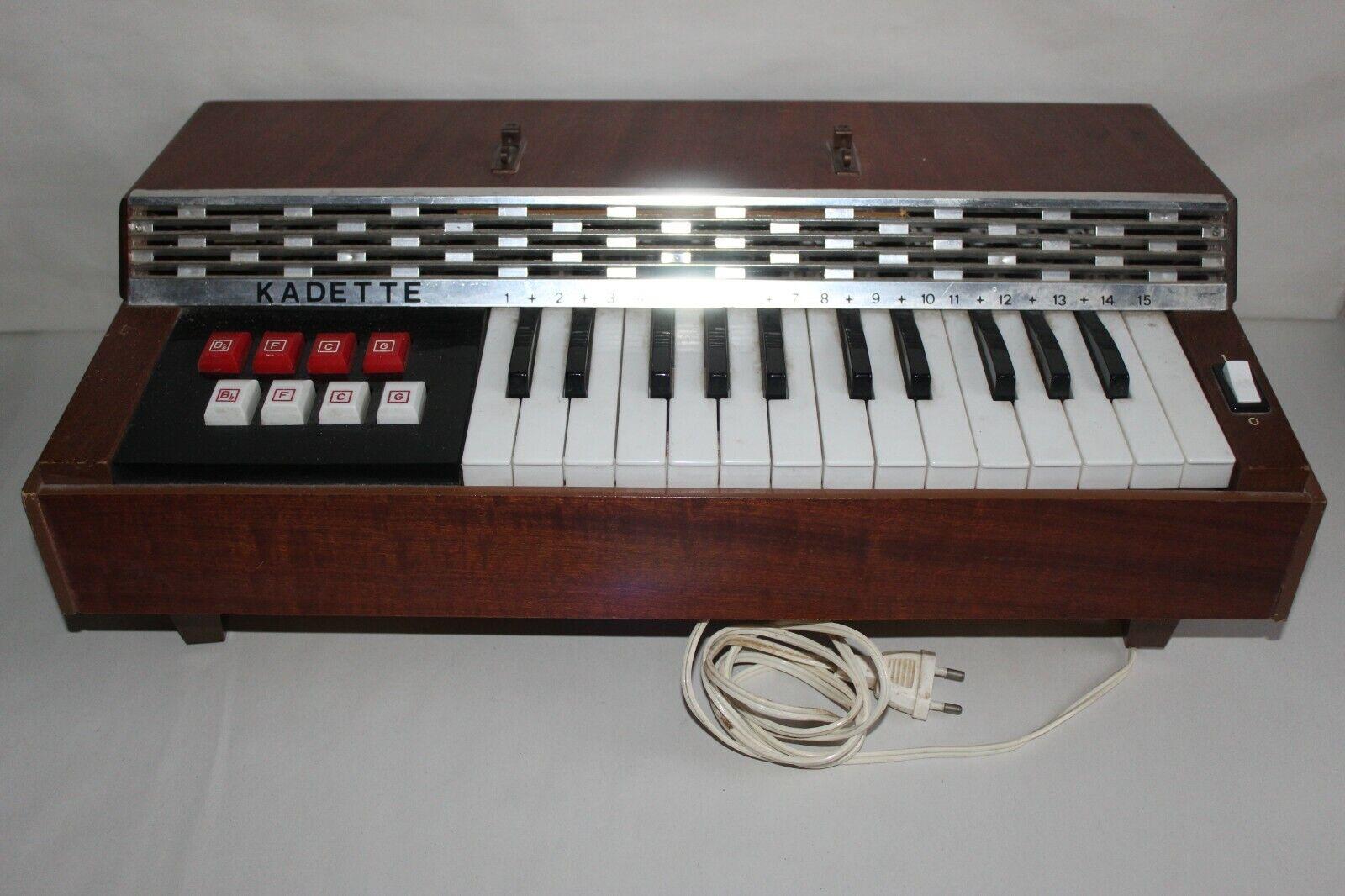 Clavier piano vintage BONTEMPI Kadette parfait état de fonctionnement