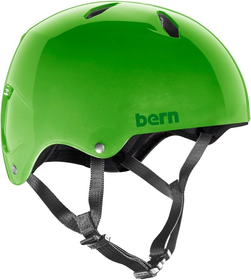 Bern Diablo Macon Giovani Eps Bicicletta Casco Skate Traslucent Verde M-L