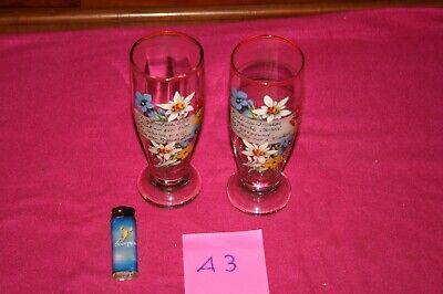 (a3) 2 Trinkgläser,emailliert