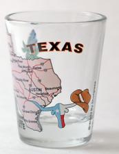 Shot Glass Texas Star The lone Star State Dallas San Antonio Houston Blk TX  303