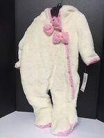 Girls Infant Outerwear One Piece Jumpsuit Jacket Size 6/9 Months Beige Pink