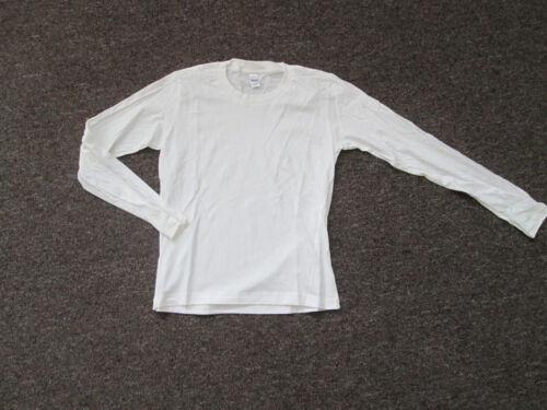 Juniors L//S T Shirt crew White Black Red Gray Brown S M  L  XL  2X cotton NEW