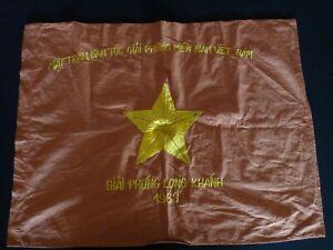 Vietnam War VC Battle Flag GIAI PHONG LONG KHANH 1969 Liberation Of long khanh