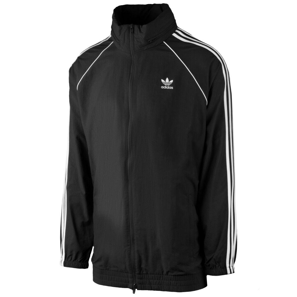 Adidas SST Windbreaker chaqueta señores retro cazadora lluvia chaqueta negro cw1309