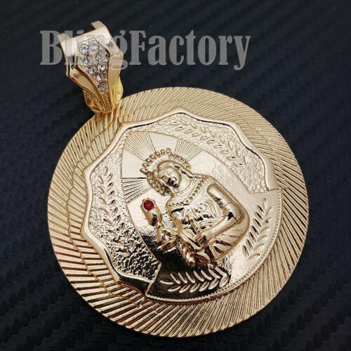 HIP HOP ICED LAB DIAMOND GOLD PLATED LARGE SANTA BARBARA FASHION CHARM PENDANT