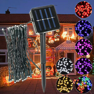 5-2M-50-LED-Solaire-Guirlande-Lumineuse-Lampe-Noel-Mariage-Jardin-Fete-Decor-NF