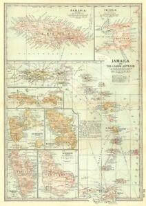 West Indies. Jamaïque Barbade Bvis Martinique Trinité-guadeloupe 1903 Old Map-afficher Le Titre D'origine Mode Attrayante