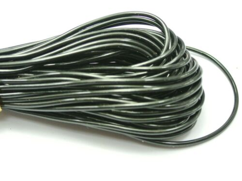 10 Meter 2mm Black  Plastic Hollow Rubber Tubing Cord Cover Memory Wire