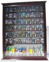 72 Shot Glass Shooter Display Case Rack Wall Cabinet, Glass Door, Sc13-che