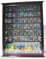 72 Shot Glass Shooter Display Case Rack Wall Cabinet, Glass Door, Sc13-che