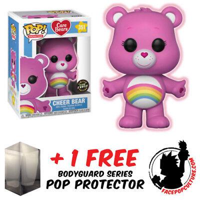 Funko Care Bears Cheer Bear Pop Chase #351 GITD w//Protector