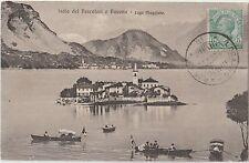 ITALIA 1912 ISOLA DEI PESCATORI E BAVENO-LAGO MAGGIORE .CARTOLINA PER LA FRANCIA