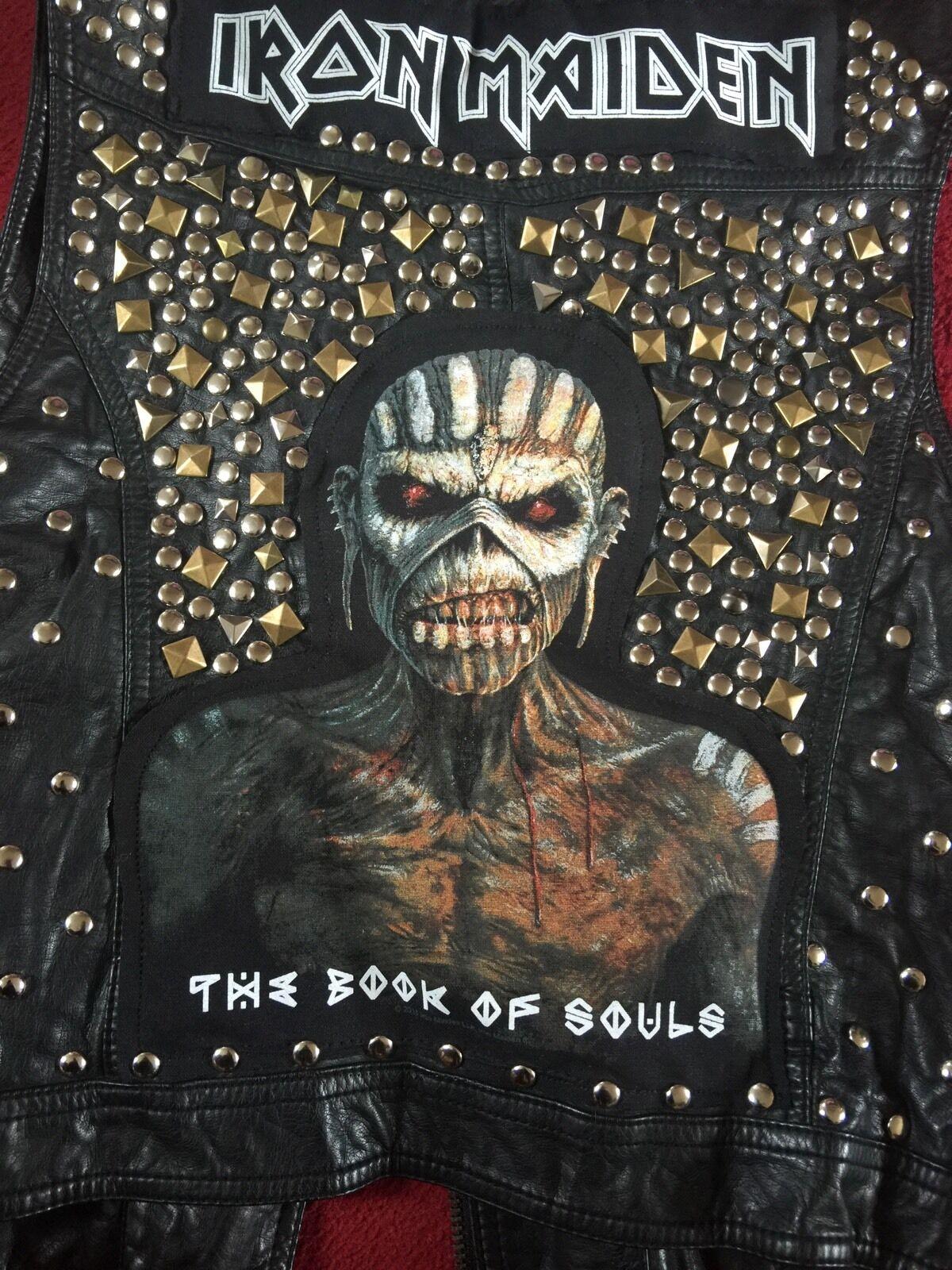 Iron Maiden Libro de almas Aspecto de Cuero Tachonado  Chaleco Chaleco Chaqueta Heavy Metal  elige tu favorito