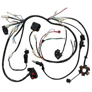 Complete Electrics Wiring Loom Harness Dirt Pit Trail Bike 150cc 200cc 250cc ATV