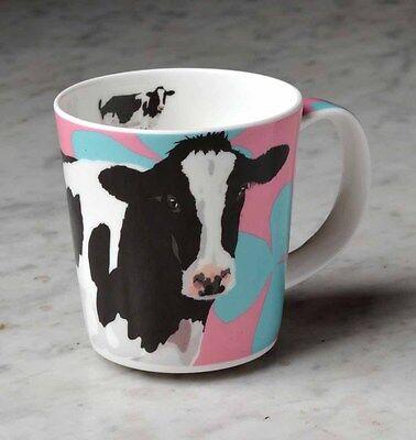 Leslie Gerry Mug Friesian Cow Farm Country Fine Bone China Life Like Design New