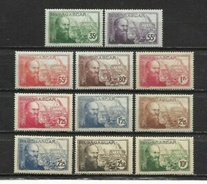French-MADAGASCAR-1938-lt-Complete-set-11-new-stamps-Jean-LABORDE-7216