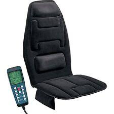 Relaxzen Comfort Black 10-Motor Vibration Massage Seat Cushion Heat Treatment