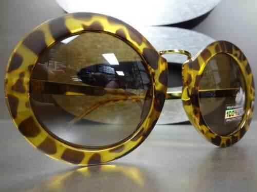 CLASSIC VINTAGE RETRO Style SUN GLASSES Round Matte Glossy Tortoise /& Gold Frame