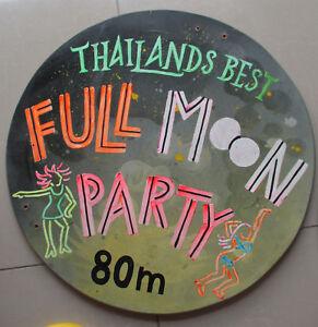 Genuine-Original-Vintage-Thailand-bar-party-sign-Thai-Asia