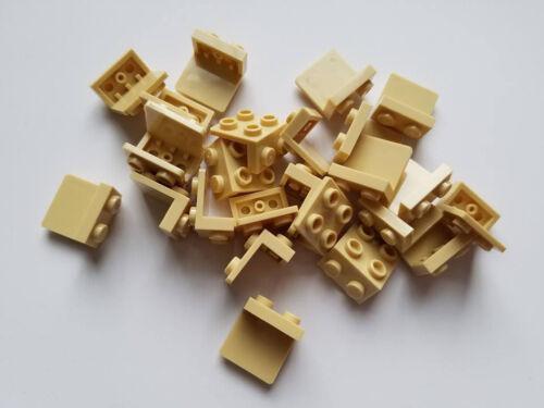Part 44728 New Qty:25 Element 4278046 Lego Tan Bracket 1x2-2x2