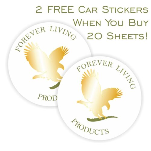 Forever Living Personalised Labels Stickers Your Details BONUS FREE CAR STICKERS