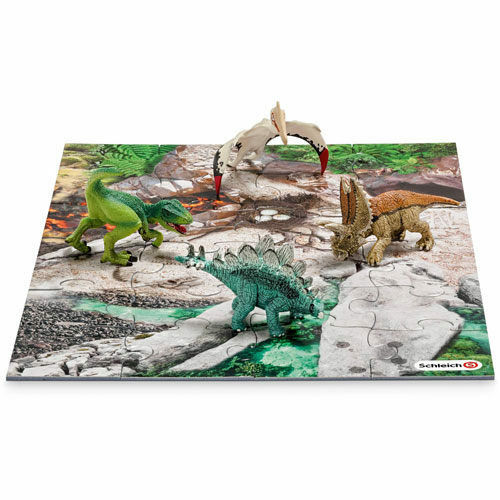 GERMANY SCHLEICH WORLD OF HISTORY MODEL SH42213 DINOSAURS /& DISCOVERY PUZZLE B