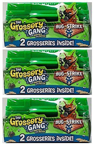 FREE SHIPPING GROSSERY GANG BUG STRIKE ARMY CRATE 2-PACK * NEW SEALED 3 PACKS