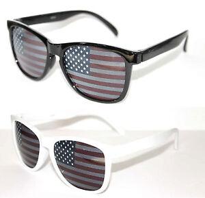 Wayfarer Sunglasses Black Or White Frame American Flag ...