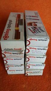 Rotring Rapidograph / Rotring Rapidograph Iso ~ Pen Various Sizes New Old Stock Vente D'éTé SpéCiale