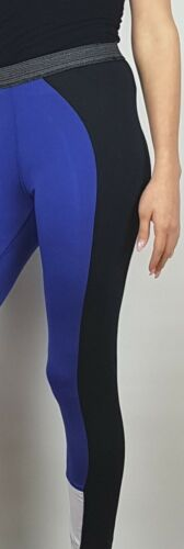 Damen Sport Funktions Leggings royal blau schwarz Stretch Gr 36 bis 54 neu 63673