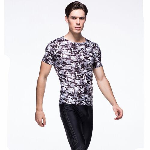 hommes JERSEY CYCLISME sous-pull T-shirt à manches courtes colla