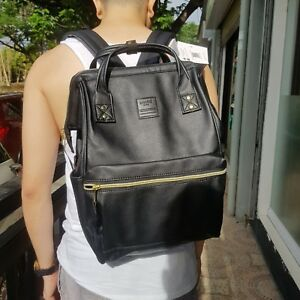 Anello-Backpack-Leather-Black