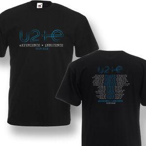 U2 Band World Tour Dates 2018 T-Shirt Concert Mens Black Navy Shirt ... 93435dfc1c024