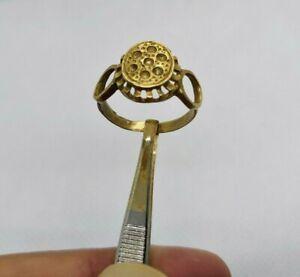 Rare Bague Bronze Viking artefact ancien authentique très SUPERBE