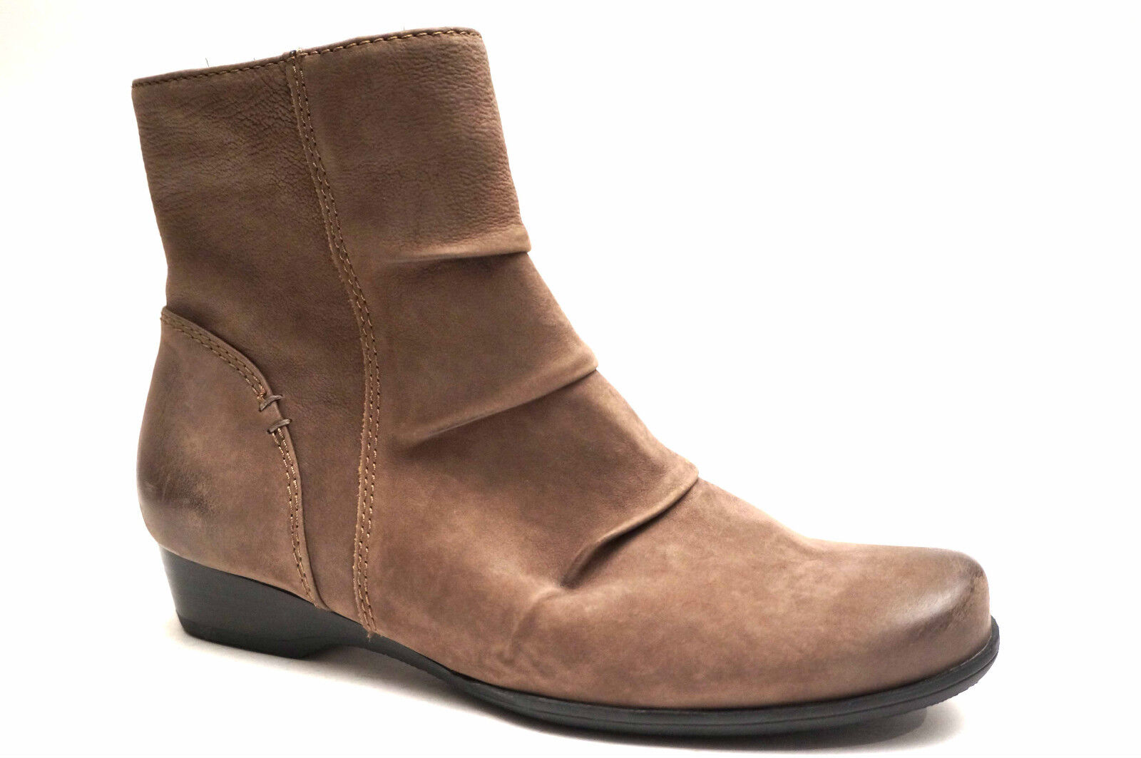 2341  Sioux shoes sporty Leather boots sz. 42,5 (UK 8,5) Mud Brown