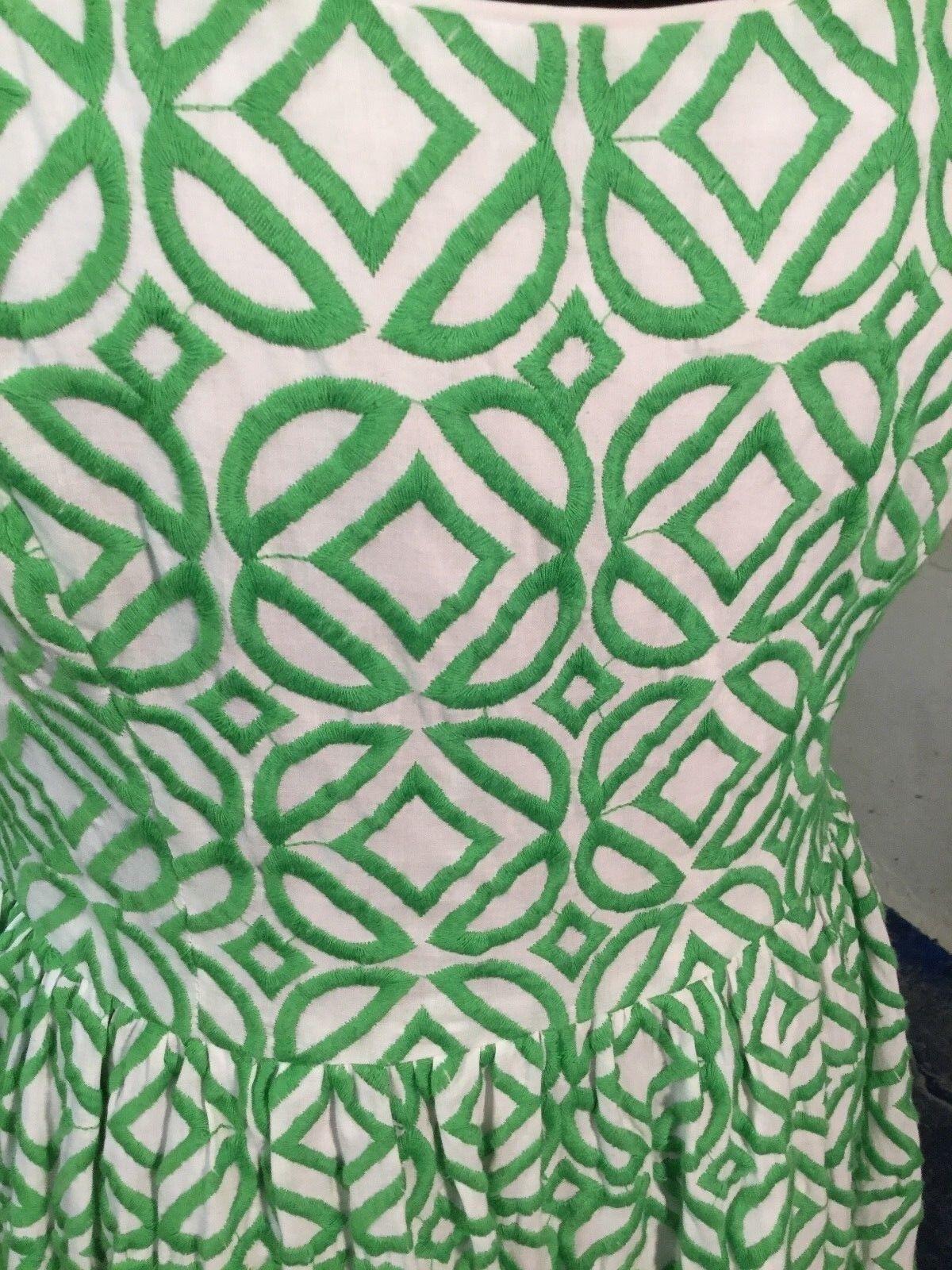 women Morgan Cloister Cafe Tea Dress Green Green Green White 10 e92383