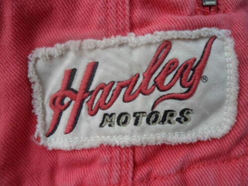 NOS Harley Davidson Womens Lydia Washed Twill Rib-Knit Casual Jacket 97558-13VW