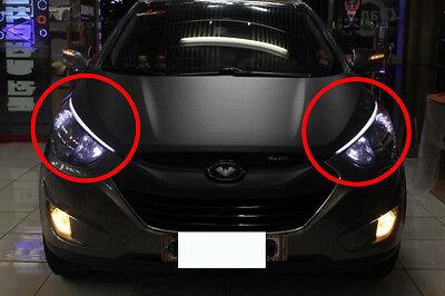 Audi Style Head Lamp Light LED Eye Line DRL 10 11 12 2013+ Hyundai Tucson IX35