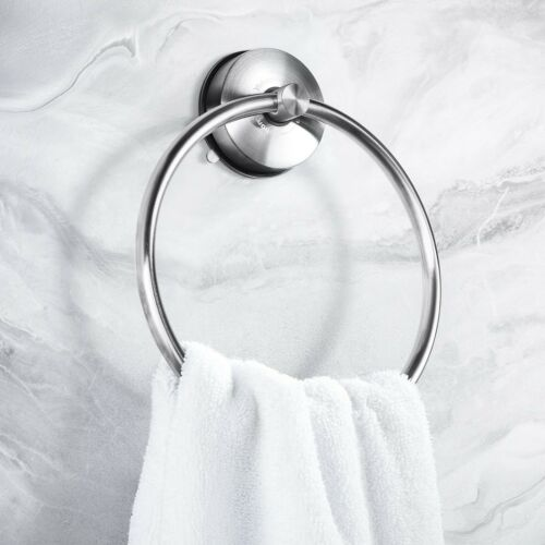 Wall Mount Suction Towel Ring Holder Hanger Rack SUS 304 Stainless Steel YOHOM