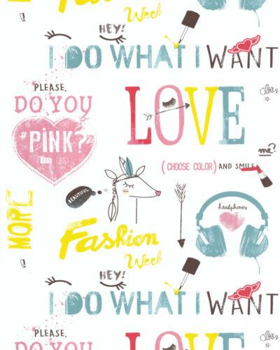Essener Tapete 51171403 Les Aventures Schrift Love.. Kinderzimmer Kindertapete