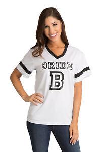 Black-amp-White-034-Bride-034-Jersey-Black-Vinyl-Wedding-Apparel-Factory-Seconds-Deal