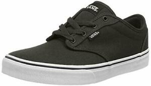 Vans-Atwood-Unisex-Kids-039-Low-Top-Sneakers-Black-Canvas-Black-White-Size-12-5