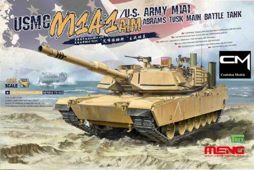 P//E /& individuels Track Links Meng TS-032 M1A1 Abrams Tusk MBT Inc 1:35 Kit