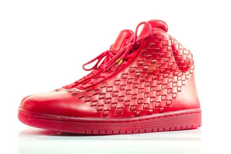 2014 Nike Air Red Jordan Shine SZ 14 Red Air LUX Leather Retro Luxury QS 689480-600 06fe3e