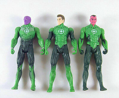 "3pcs DC SUPER HERO Green Lantern 3.75""SINESTRO ABIN SU Loose Auction Figure GL03"