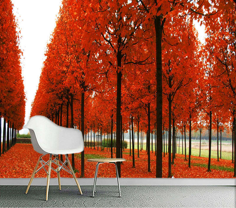 ROT Lofty Maple 3D Full Wall Mural Photo Wallpaper Printing Home Kids Decoration