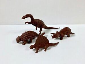 Vintage Marx Parasaurolophus Plastic Dinosaur Prehistoric playset Red brown