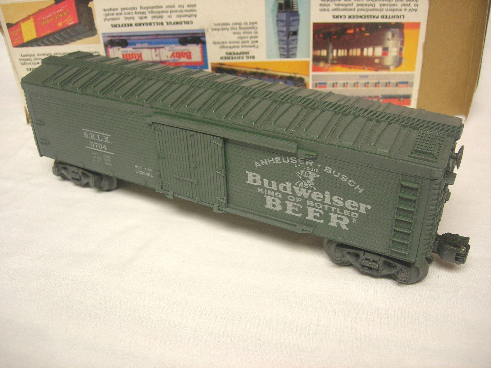 Lionel   5704 Budweiser Reefer-rey de cerveza de botella
