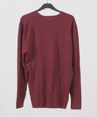 Zara Man/'s Custom Fit long sleeved crew neck HENLEY SWEATER WITH TEXTURED