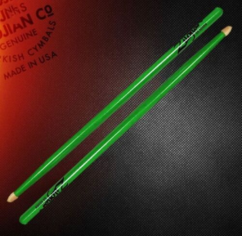 Zildjian 5ACWDGG 5A Dayglo Bright Green Neon Glow Free Shipping in US 2 Sets